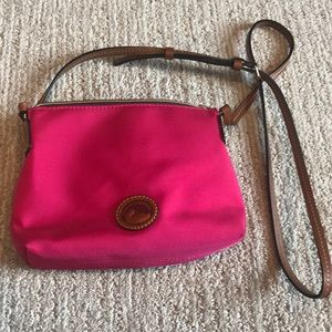 Dooney & Bourke pink canvas crossbody purse